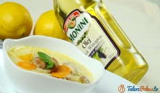 Zupa cytrynowa z kurczakiem