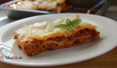 Lasagne z sosem mięsno - pomidorowym