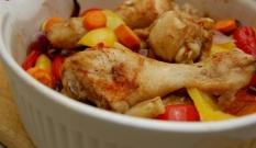 Kurczak duszony w papryce