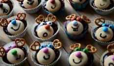 Piernikowe muffinki Renifery